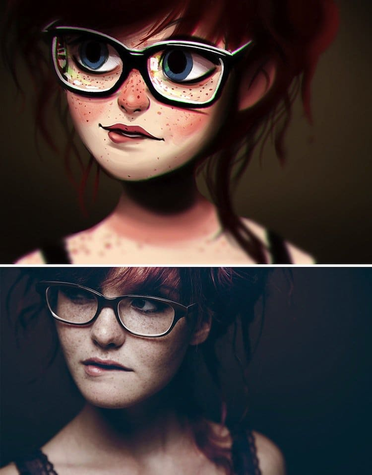 12 People Turned Into Amazing Cartoons Before Your Very Eyes