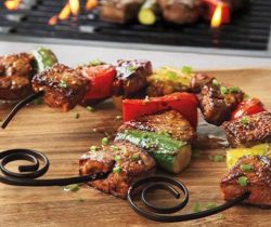 circle skewers kabob bbq