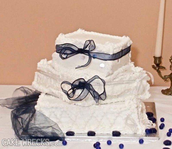 collapsed blue ribbon cake