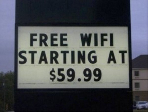 costly free wifi