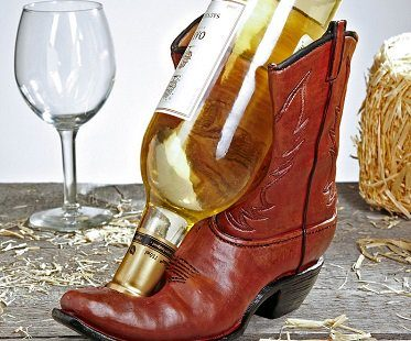 cowboy boot bottle holder shoe