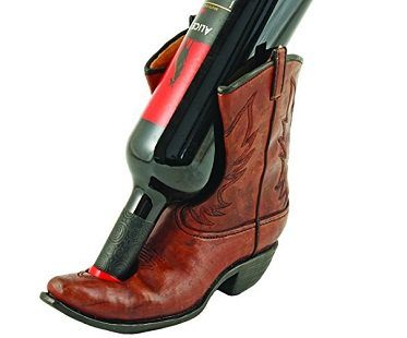 cowboy boot bottle holder wine
