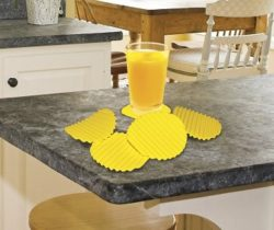 crinkled potato chip coasters