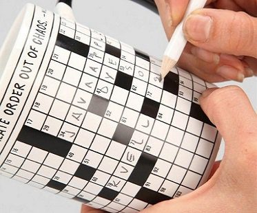crossword puzzle mug write