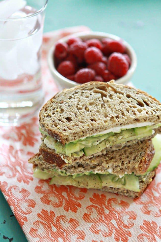 cucumber avocado sandwiches
