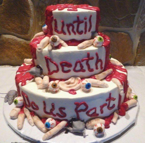 death do us part cake