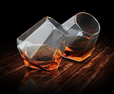 diamond whisky glasses