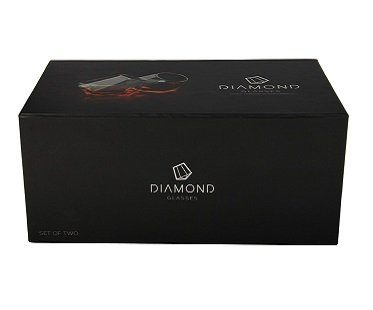 diamond whisky glasses box