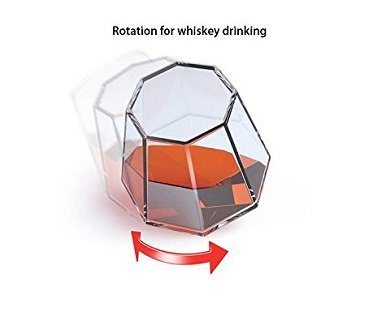 diamond whisky glasses rotation