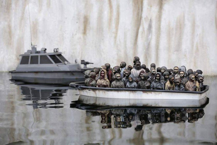 dismaland boat people