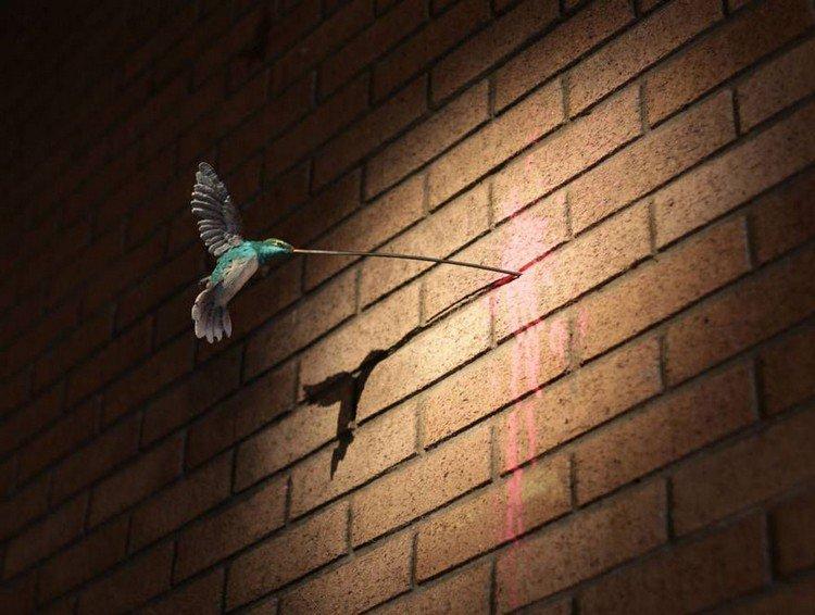 dismaland hummingbird wall
