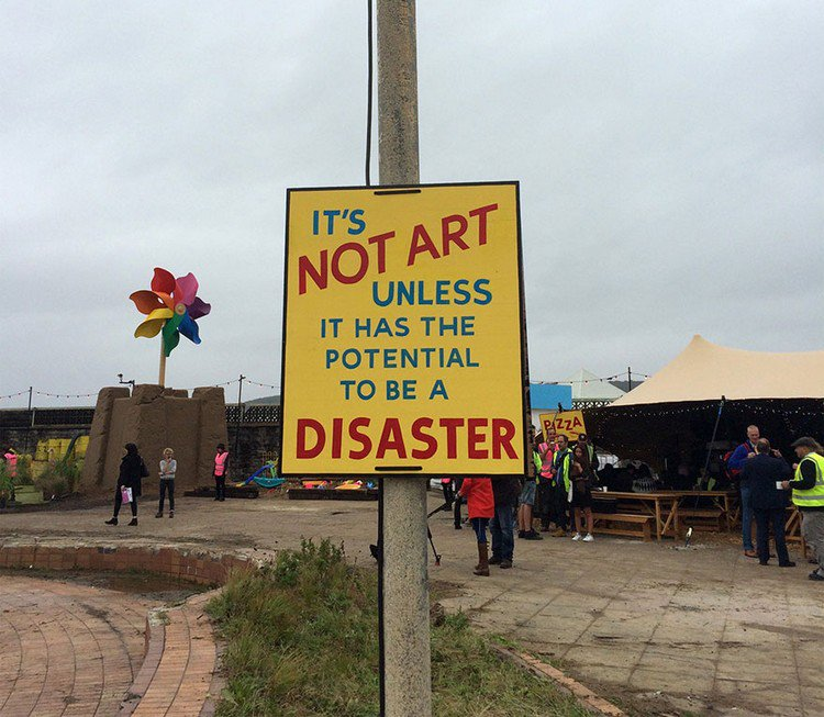 dismaland not art sign
