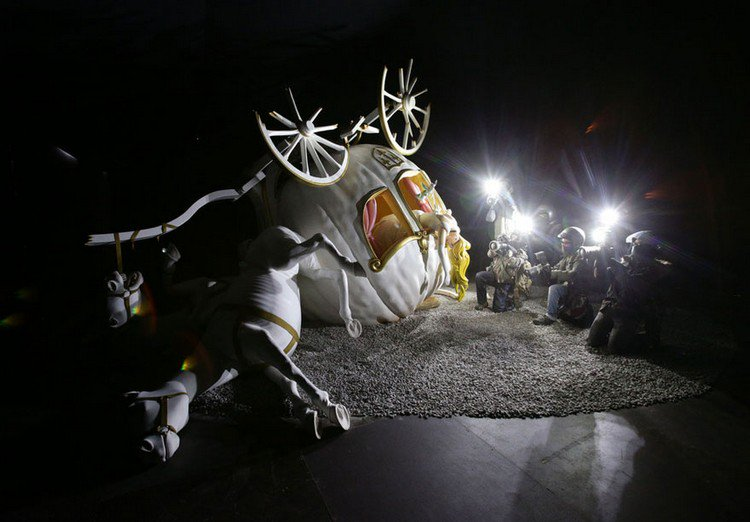 dismaland overturned carriage