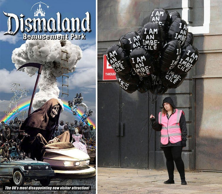 dismaland poster balloon woman