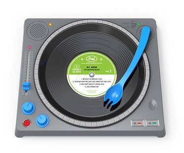 dj dinner plate kids fun