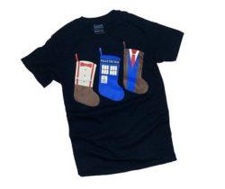 doctor who christmas stockings t-shirt