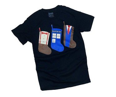 doctor who christmas stockings t-shirt