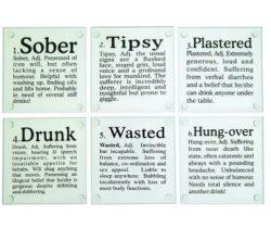 drunk words coasters