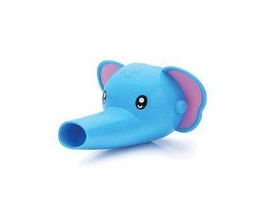 elephant faucet extender blue