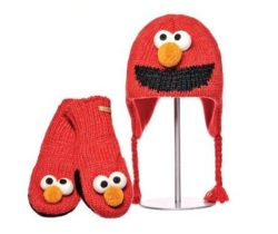 elmo hat and mittens set