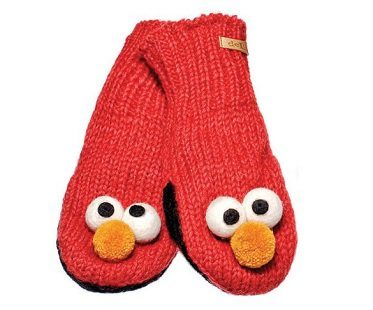 elmo hat and mittens set gloves