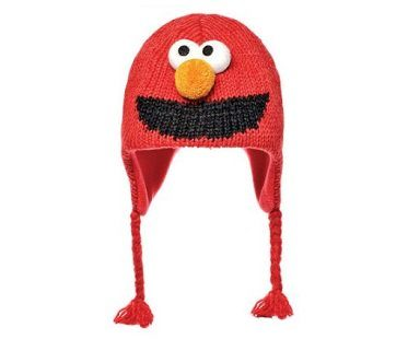 elmo hat and mittens set knit
