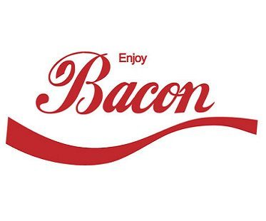 enjoy bacon t shirt logo