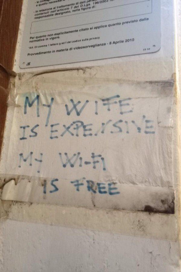 expensive wife sign