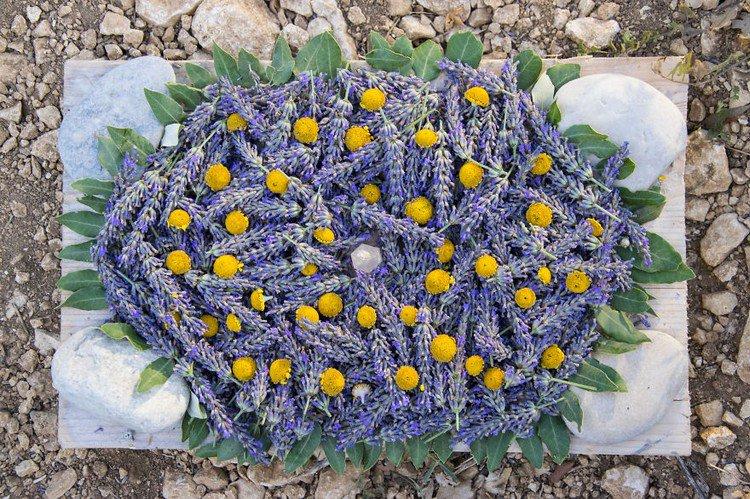 finished lavender art