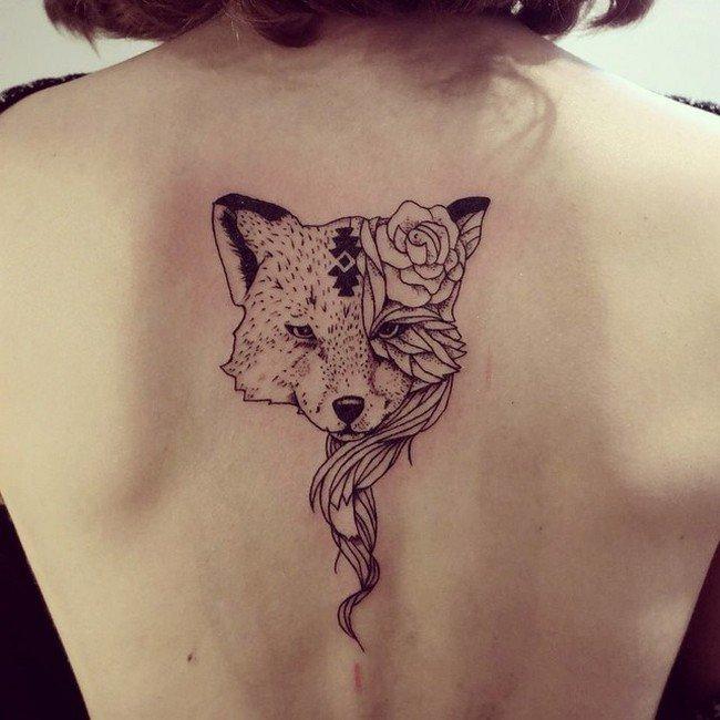 fox rose tattoo