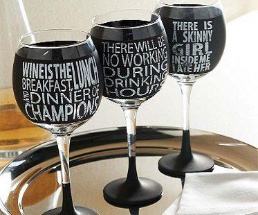 funny chalkboard wine glasses