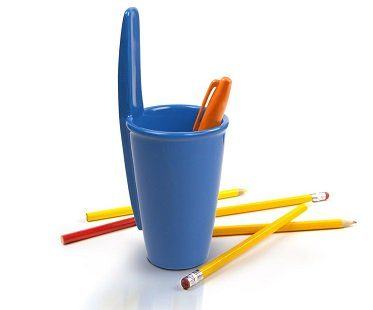 giant cap pen holder blue