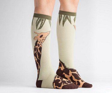 giraffe socks knee high