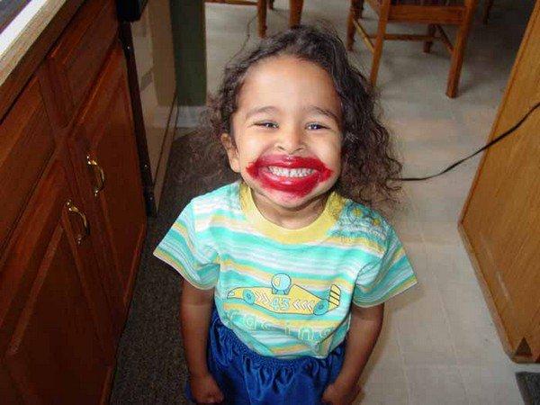 girl lipstick face