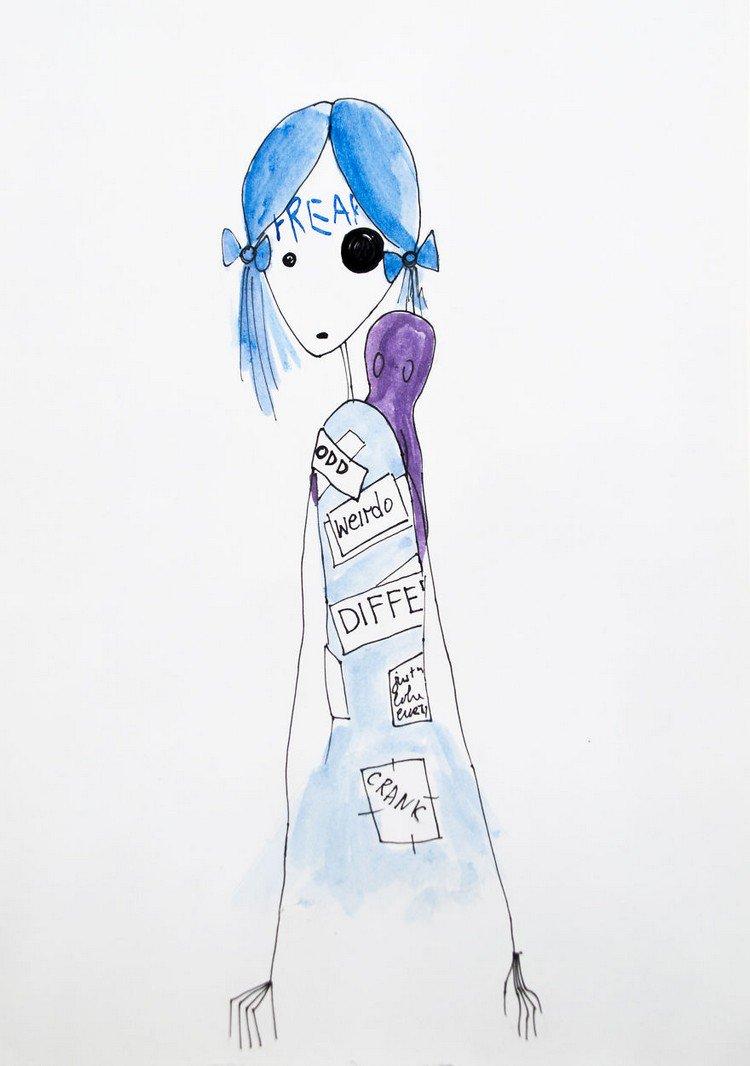 girl negative name tags