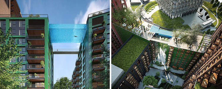 glass bottom pool double view