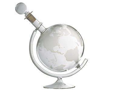 globe liquor decanter glass