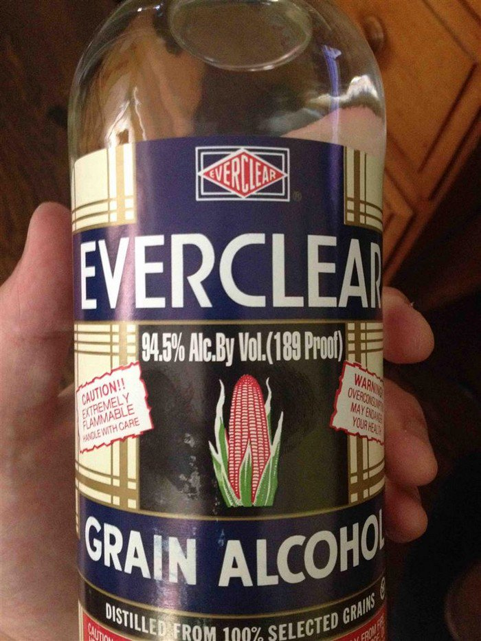grain alcohol high percentage