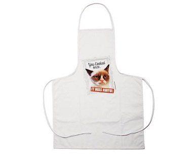 grumpy cat apron