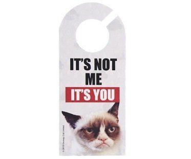 grumpy cat door hanger