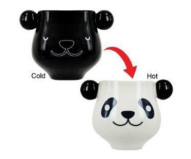 heat changing panda mug drink