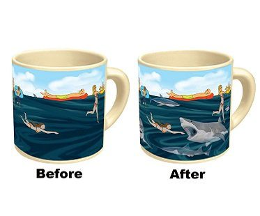 heat changing shark mug