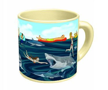 heat changing shark mug after