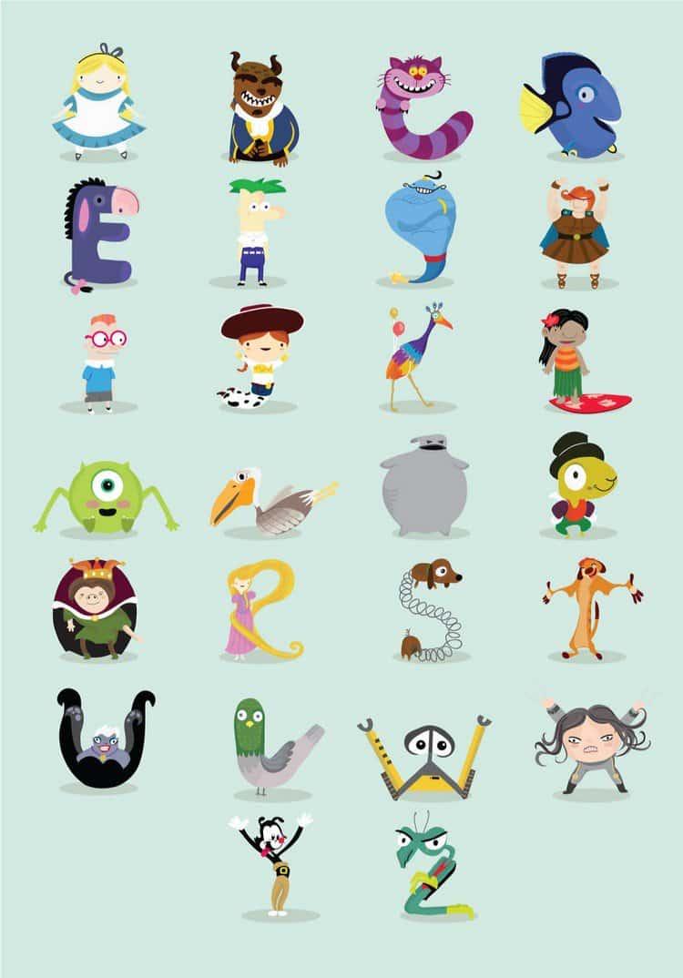 illustrated alphabet da luz