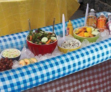 inflatable buffet bar blue