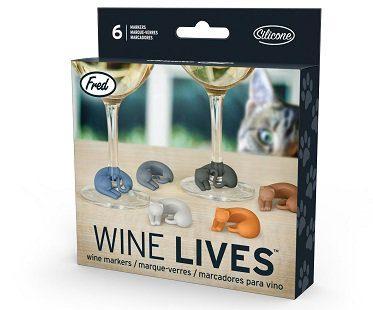kitty wine glass markers box
