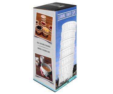 leaning tower of pisa cups box