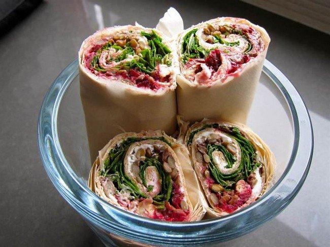 lentil cranberry wraps