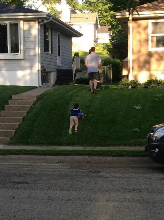 like-father-like-son-mowing