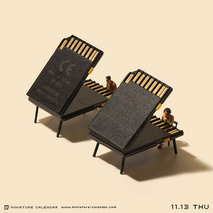 memory cards mini pianos
